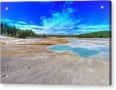 Clouds Across The Basin Acrylic Print by Jeff Donald