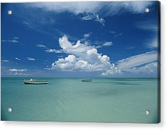 Clouds And Boats, Aruba Acrylic Print by Skip Brown