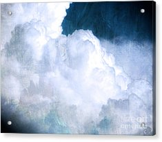 Clouds And Ice Acrylic Print by Roselynne Broussard