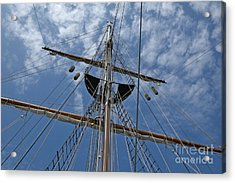Clouds And Mast Acrylic Print