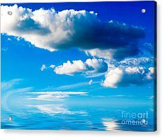 Clouds And Sea Acrylic Print by Boon Mee