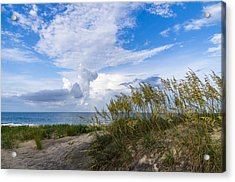 Acrylic Print featuring the photograph Clouds And Sea Oats by Gregg Southard