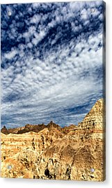 Clouds And Shadows Badlands National Park Sd Acrylic Print
