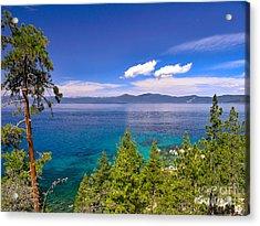 Clouds And Silence - Lake Tahoe Acrylic Print
