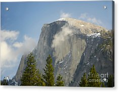 Clouds Around Half Dome  Acrylic Print by Jim And Emily Bush