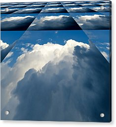 Clouds Ascending Acrylic Print by Pete Trenholm