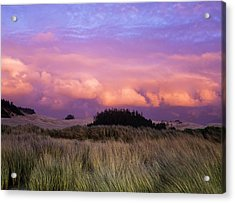 Clouds Catch Light From The Setting Sun Acrylic Print by Robert L. Potts