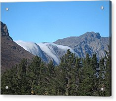 Clouds Flowing Over The Mountains Acrylic Print