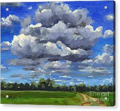 Clouds Got In My Way Sold Acrylic Print