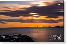 Clouds In Motion At Cape May  Acrylic Print