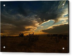 Clouds In New Mexico Acrylic Print by Jeff Swan