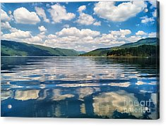 Clouds In The Water Acrylic Print by Stela Taneva