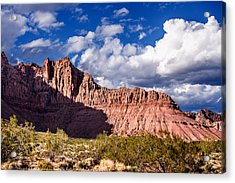 Clouds In Valley Of Fire Acrylic Print by  Onyonet  Photo Studios