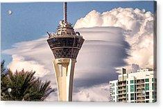 Clouds Make Vegas Acrylic Print