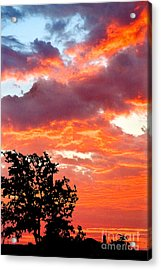 Acrylic Print featuring the photograph Clouds On Fire by Mae Wertz
