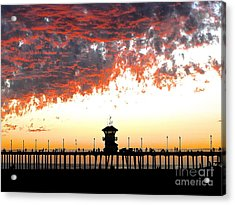 Acrylic Print featuring the photograph Clouds On Fire by Margie Amberge