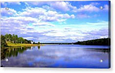 Acrylic Print featuring the photograph Clouds On Water by Jason Lees