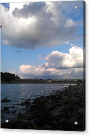 Clouds On Water Acrylic Print by Kim Martin