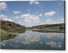 Clouds On Water Acrylic Print by Rich Collins
