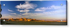 Clouds Over A Desert, Jordan Acrylic Print by Panoramic Images