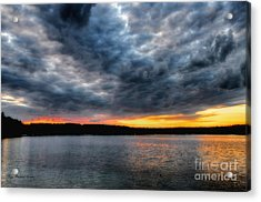 Acrylic Print featuring the photograph Clouds Over Big Twin Lake by Trey Foerster