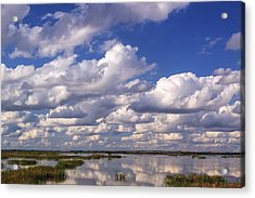 Acrylic Print featuring the photograph Clouds Over Cheyenne Bottoms by Rob Graham