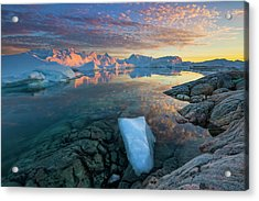 Clouds Over Ilulissat Icefjord Acrylic Print by Johnathan Ampersand Esper