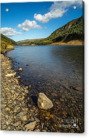 Clouds Over Lake  Acrylic Print by Adrian Evans