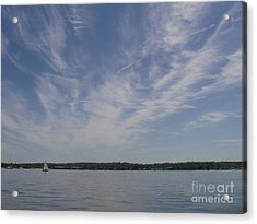 Acrylic Print featuring the photograph Clouds Over Long Island Sound by John Telfer