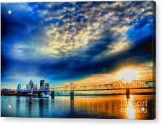Clouds Over Louisville Acrylic Print by Darren Fisher