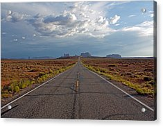 Clouds Over Monument Valley Acrylic Print by Chris Flack Desert Images