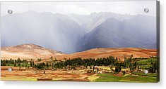Clouds Over Mountains, Andes Mountains Acrylic Print by Panoramic Images