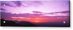 Clouds Over Mountains, Sierra Estrella Acrylic Print by Panoramic Images