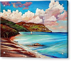 Clouds Over Paradise Acrylic Print