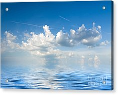 Clouds Over Sea Acrylic Print by Boon Mee