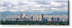 Clouds Over Skyline And Mountains Acrylic Print by Panoramic Images