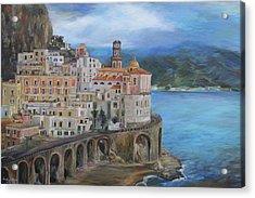Clouds Over The Amalfi Coast Acrylic Print