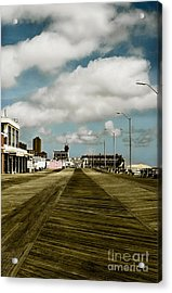 Clouds Over The Boardwalk Acrylic Print