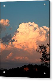Clouds Over The Cross Acrylic Print