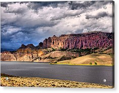 Clouds Over The Dillon Pinnacles Acrylic Print