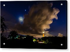 Clouds Over The Lighthouse Acrylic Print