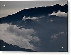 Clouds Over The Mounatins Acrylic Print