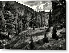 Clouds Over The Mountainscape Acrylic Print