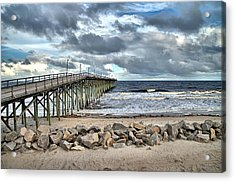 Clouds Over The Pier Acrylic Print