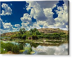 Clouds Over The River Acrylic Print