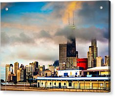 Clouds Over The Windy City - Chicago Skyline Acrylic Print