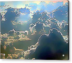 Clouds Painted In Air Acrylic Print by Wernher Krutein