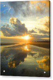 Clouds Reflection By Jan Marvin Acrylic Print