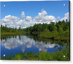 Clouds Reflections Acrylic Print