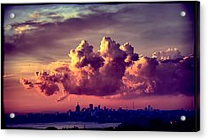 Clouds Rolling Acrylic Print by Andrei SKY
